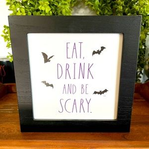 Rae Dunn Halloween Sign Eat Drink And Be Scary